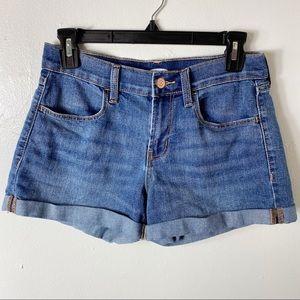 Old Navy Blue Jean Denim Cuffed Shorts 0